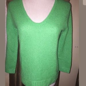 J. Crew Kelly Green Cashmere Sweater S